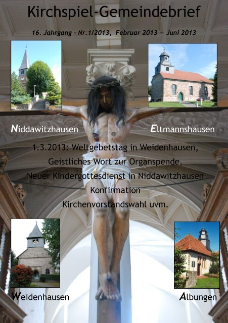 Kirchspiel-Gemeindebrief - Kirchenkreises Eschwege