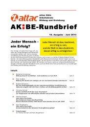 Rundbrief_18 - Arbeitskreis Bildung & Erziehung