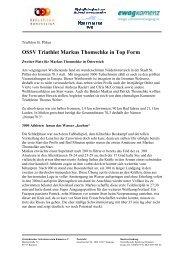 OSSV Triathlet Markus Thomschke in Top Form - Ostsächsischer ...