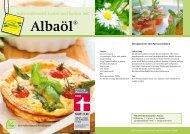 Kalorienbewusst kochen und backen mit Albaöl