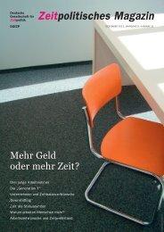 Zeitpolitisches Magazin - Vereinbarkeit von Berufs- und Privatleben
