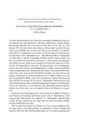 jean paul und die literarische moderne 21.–24. märz 2013