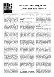 ^ Der Islam – eine Religion der Gewalt oder des Friedens I