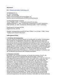 Impressum EIS - Einwohnerinitiative Schönberg eV Verwellengrund ...