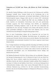 Die Reform des World Anti-Doping Code - Max-Planck-Institut für ...
