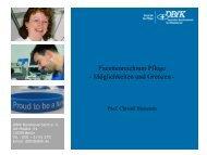 Facettenreichtum Pflege - Möglichkeiten und Grenzen