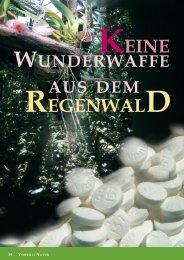 KEINE REGENWALD - Naturstoff-Forschung