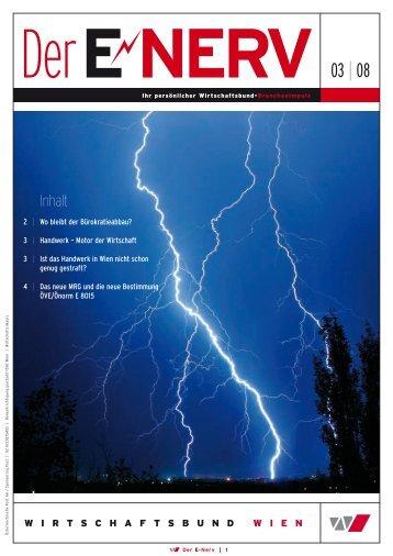 E-Nerv 03_2008.pdf - Wirtschaftsbund Wien - Elektrotechnik