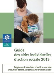 Guide des aides individuelles d'action sociale 2013 Guide ... - Caf.fr