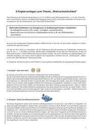 """8 Kopiervorlagen zum Thema """"Wahrscheinlichkeit"""""""