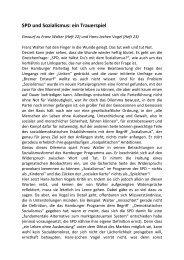 SPD und Sozialismus: eine Trauerspiel - Kritik des Bremer Entwurfs