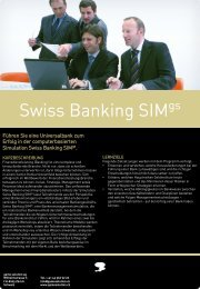 Swiss Banking SIM - game solution ag