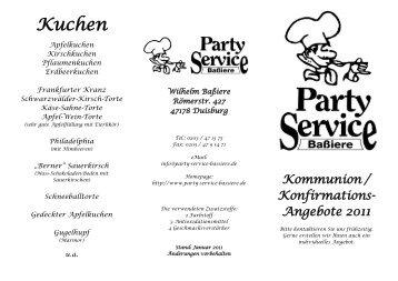 Kuchen - Partyservice Baßiere - party-service-bassiere.de