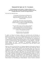 Mahntafel für Opfer der NS - Psychiatrie - VPE Hannover
