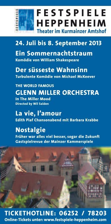 Nostalgie - Festspiele Heppenheim