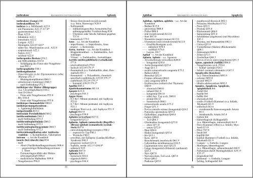 ICD10 - Alphabetisch - Grafino.at