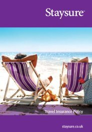 Travel Insurance Policy Document - Staysure