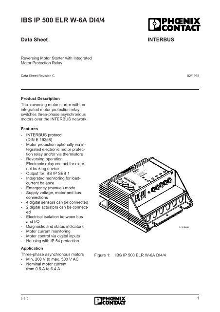 Phoenix Contact Interbus IBS IP 500 ELR W-6A DI4//4