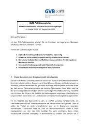 Politiknewsletter 4/2009 - Genossenschaftsverband Bayern