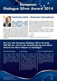 European Dialogue Silver Award 2014 - Europäische Schule