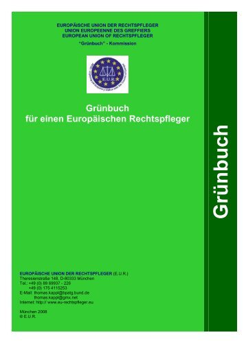 Grünbuch für einen Europäischen Rechtspfleger als PDF