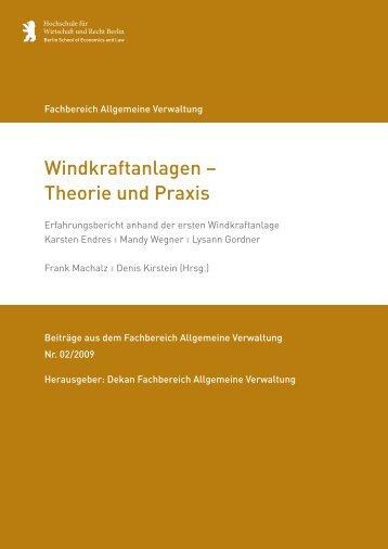 Windkraftanlagen – Theorie und Praxis - Hochschule für Wirtschaft ...