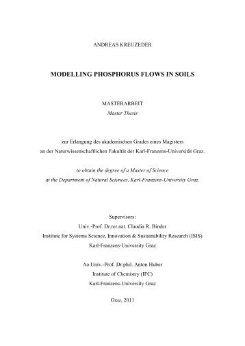 MODELLING PHOSPHORUS FLOWS IN SOILS - Optimus Verlag
