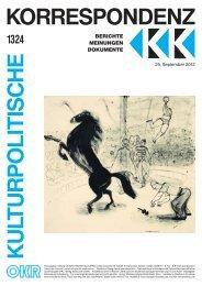 Ausgabe 1324 als PDF zum Download - Kulturportal West Ost