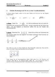 Mathcad 2 - Einfache Rechnung