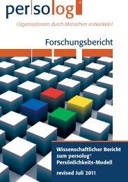 Forschungsbericht (2011) - KAIROS Partner AG