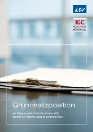 Grundsatzposition - International Group of Controlling