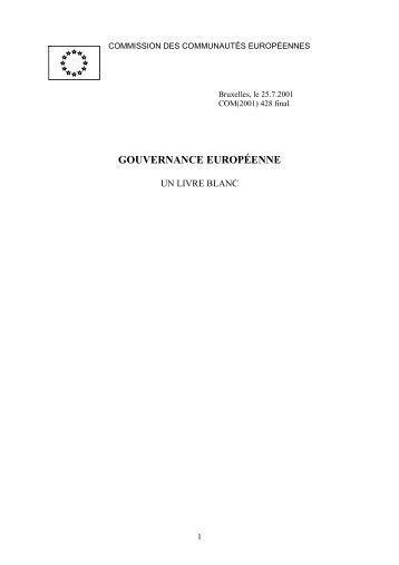 Livre blanc sur la gouvernance européenne - EUR-Lex - Europa
