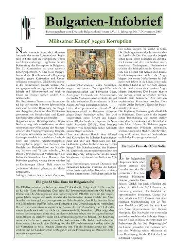 Vorschau - Deutsch-Bulgarisches Forum e.V.