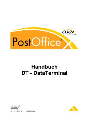 DT - DataTerminal - CodX Software GmbH