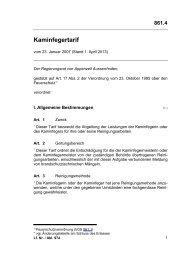 Kaminfegertarif - Appenzell Ausserrhoden