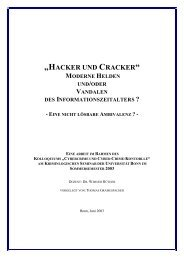 """""""HACKER UND CRACKER"""" - Universität Bonn"""