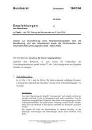 Bundesrat 194/1/04 Empfehlungen - Umwelt-online