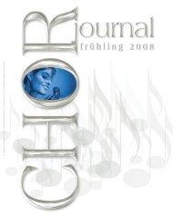 Frühling 2008 - Dachverband der steirischen Chöre - Chormusik.at
