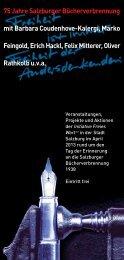 75 Jahre Salzburger Bücherverbrennung - Literaturhaus Salzburg