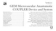 GEM Microvascular Anastomotic COUPLER Device and System
