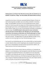 Rechtsverordnung über die Gewährung von Beihilfe in ... - BDVR