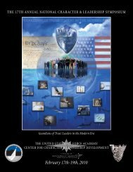 February 17th-19th, 2010 - United States Air Force Academy
