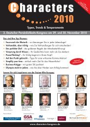 3. Deutscher Persönlichkeitskongress: Characters 2010 - Lebenskraft