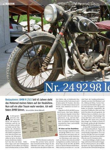 Nr. 24 92 98 lebt - Moto Sport Schweiz