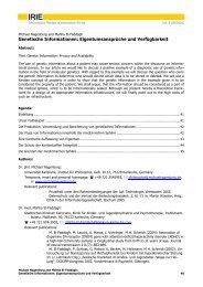 Genetische Informationen - International Review of Information Ethics