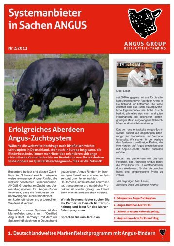 Systemanbieter in Sachen ANGUS - ANGUS Group