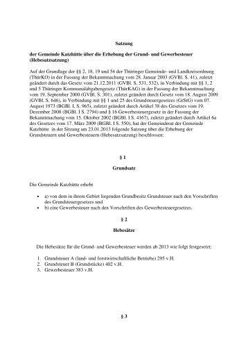 Hebesatzsatzung - Verwaltungsgemeinschaft Bergbahnregion ...