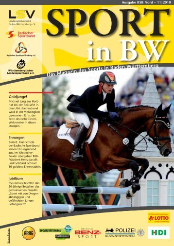Sport in bw Nr. 11/10 - Badischer Sportbund Nord ev