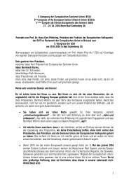 Festrede* von Prof. Dr. Hans Gert Pöttering - Europäische Senioren ...