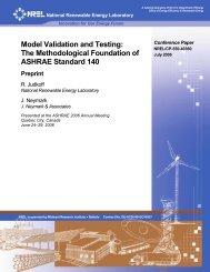 Model Validation and Testing: The Methodological Foundation - NREL